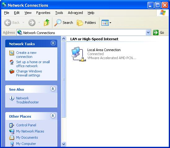 "Computer on ""My Network Places"" open"